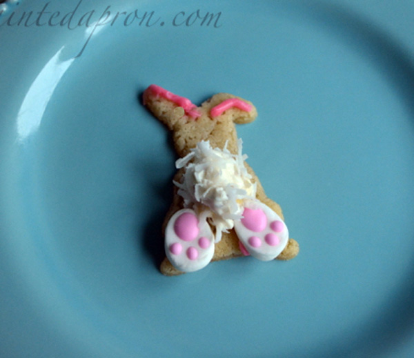 bunny bottom cookie