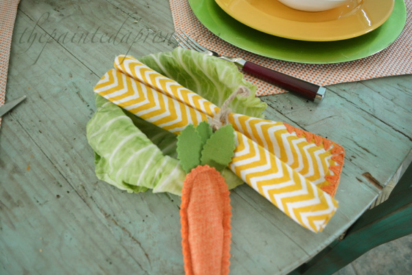 cabbage & carrot napkin ring