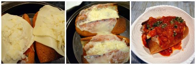 cheesy meatball sub