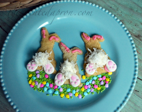 cottontail bunny bottom cookies