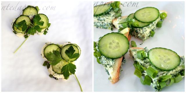 cucumber tea sandwich collage