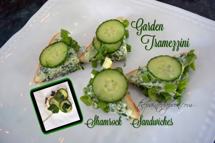 Garden Tramezzini and Shamrock Sandwiches