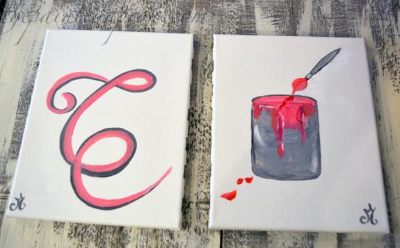 monogram & paint bucket