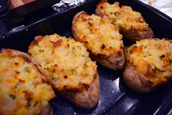 salad dressing stuffed potatoes