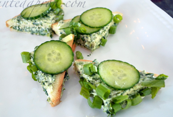 spinach & cucumber tea sandwiches