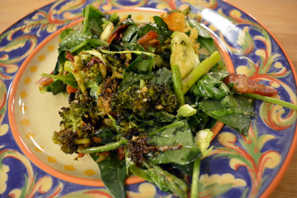 spinach, kale and broccoli salad