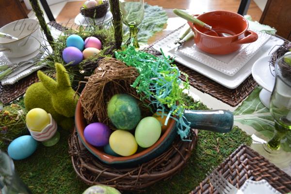 spring egg centerpiece