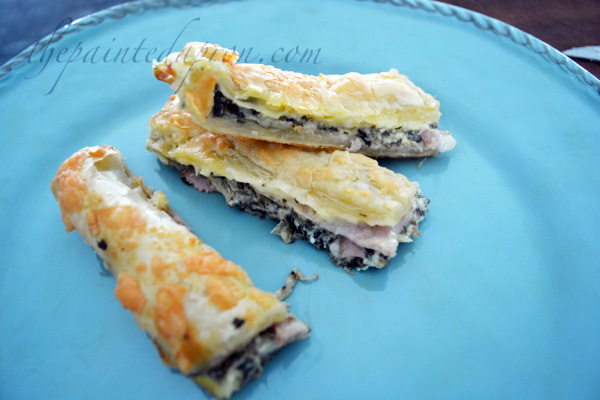 stuffed puff pastry cigars