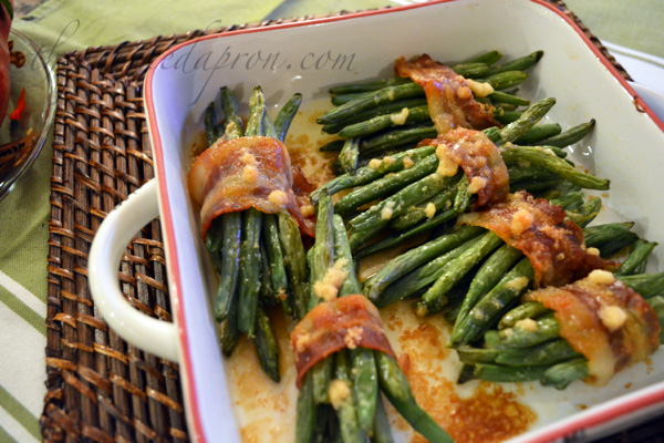 baked green bean bundles