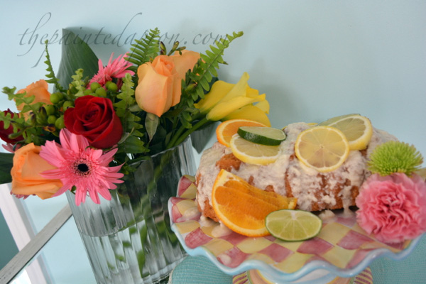 cake & flowers