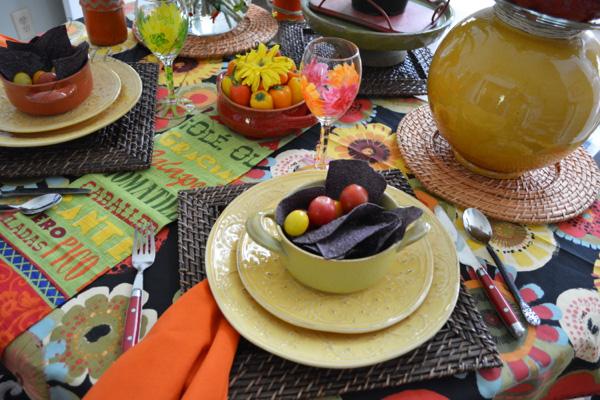Mexican garden setting