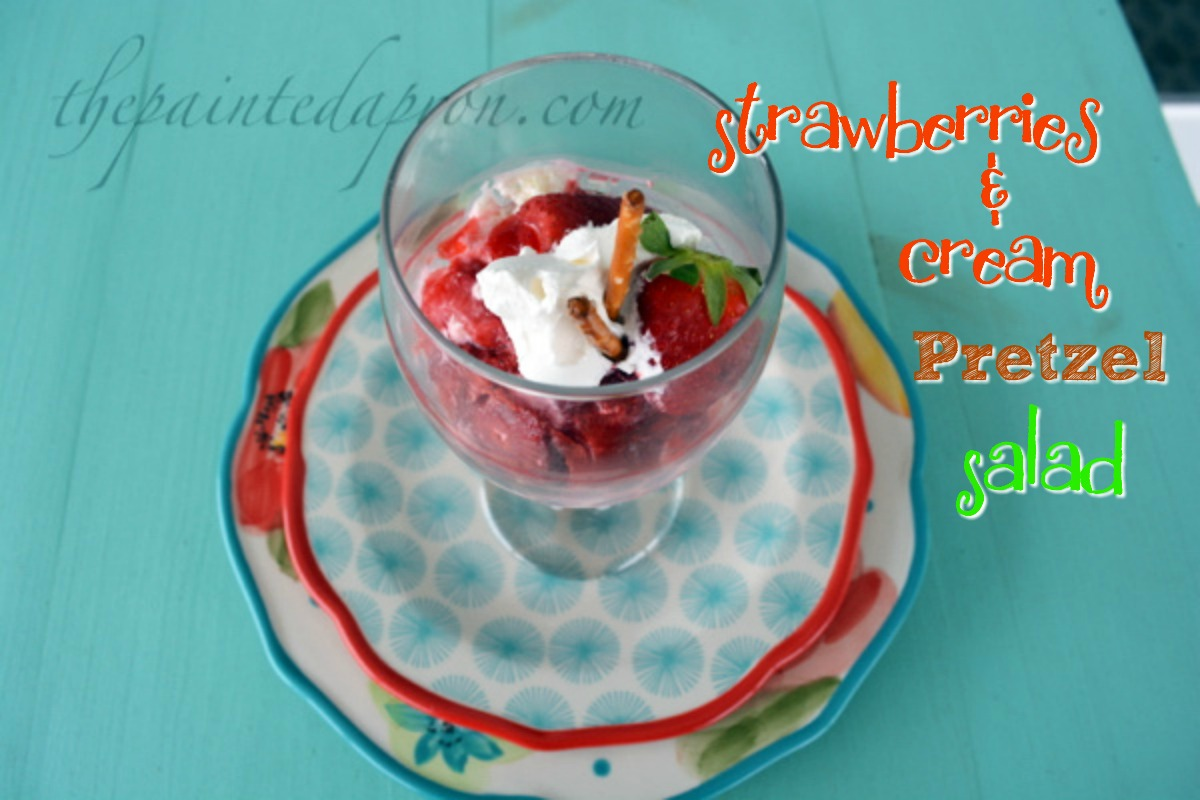 strawberries & cream pretzel salad parfait