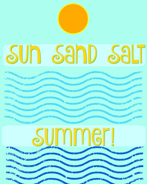 sun sand salt summer
