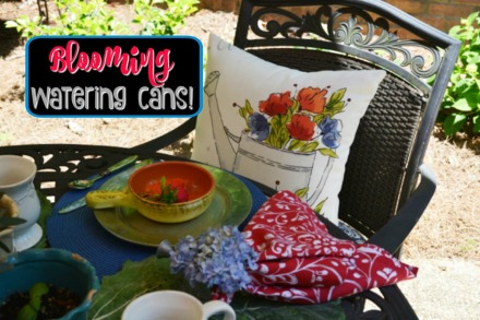 garden table place setting
