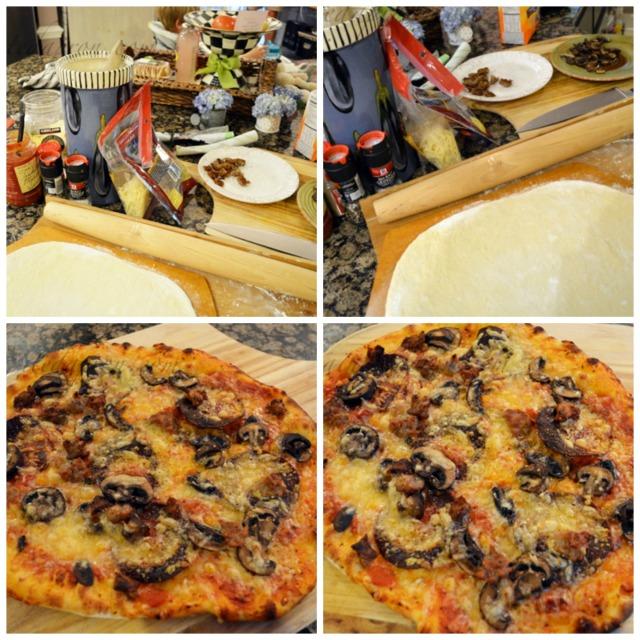 Italian Sausage, Pepperoni & Mushroom Pizza