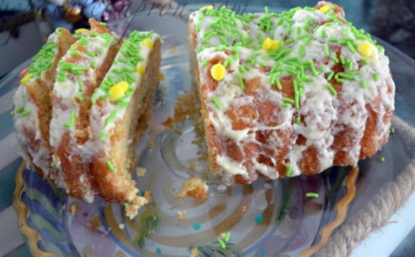 lemon loaf with lemon lime glaze