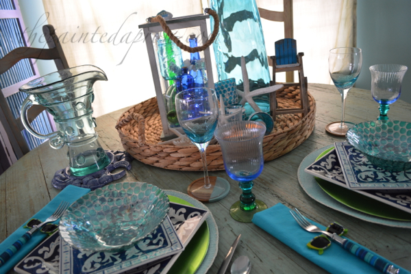 seaside sparkle table
