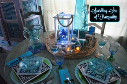 sparkling beach table
