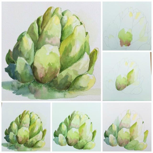 artichoke collage