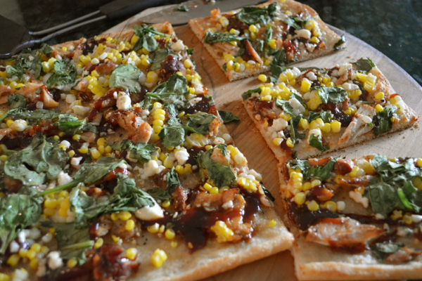 BBQ Chicken & Spinach Salad Pizza