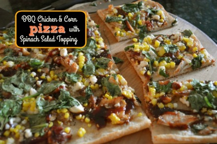 BBQ Chicken & Spinach Salad Pizza