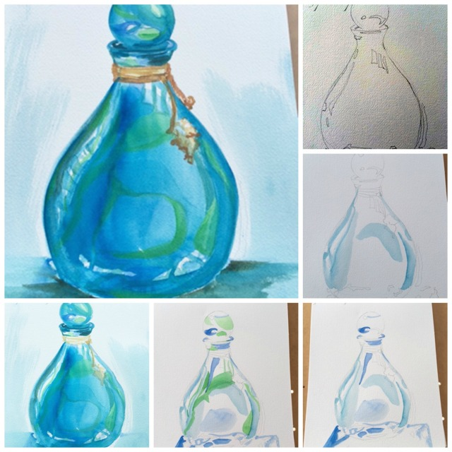 bottle collage