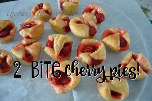 2 bite cherry pies