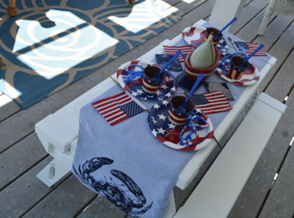 kids flag table