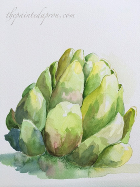 watercolor artichoke