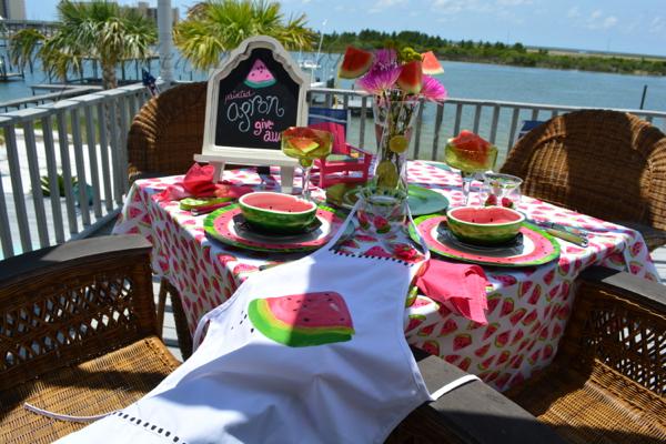 watermelon apron