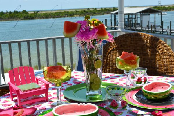 watermelon & lime vase