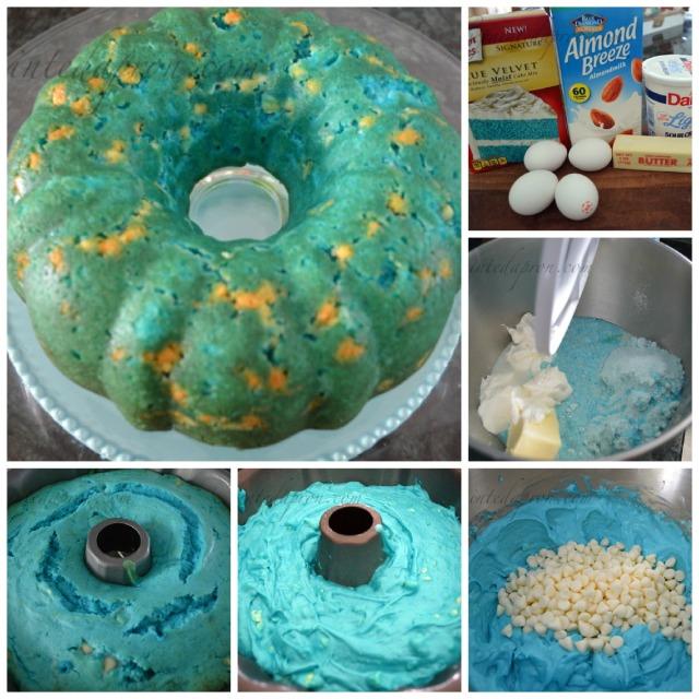beach cake collage