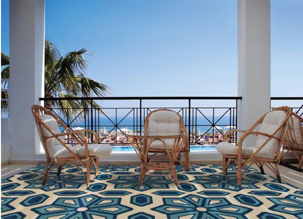 blue rug