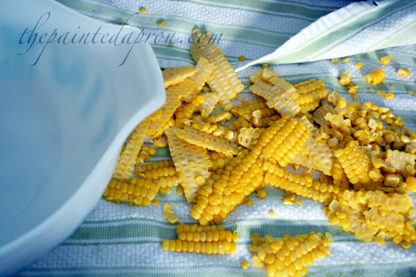 cut corn from the cob