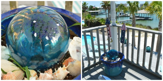 gazing ball pot