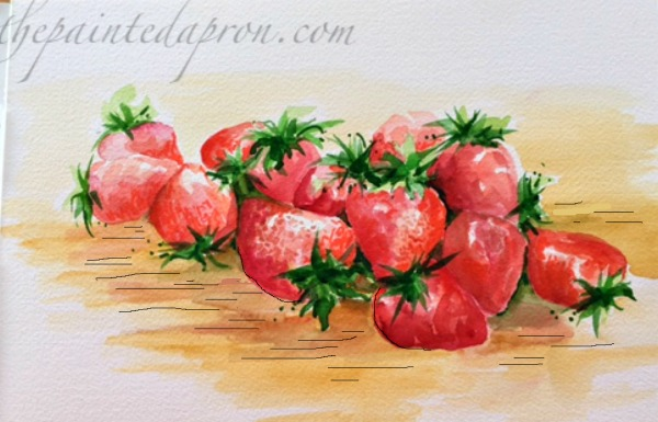 strawberries with draw effect