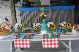 sunny summer seaside picnic