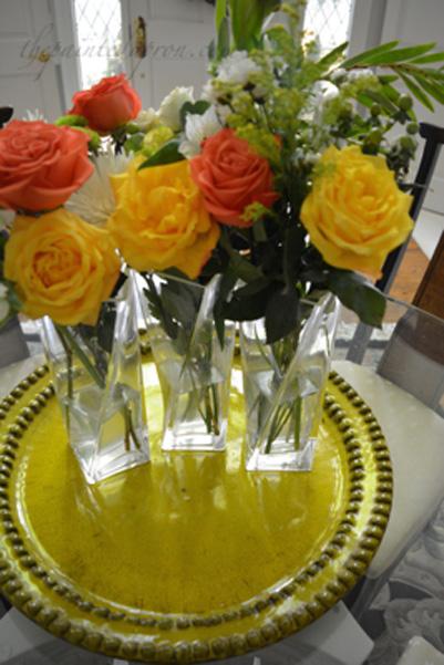 3 Vase Centerpiece The Painted Apron