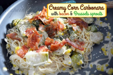bacon & corn carbonara