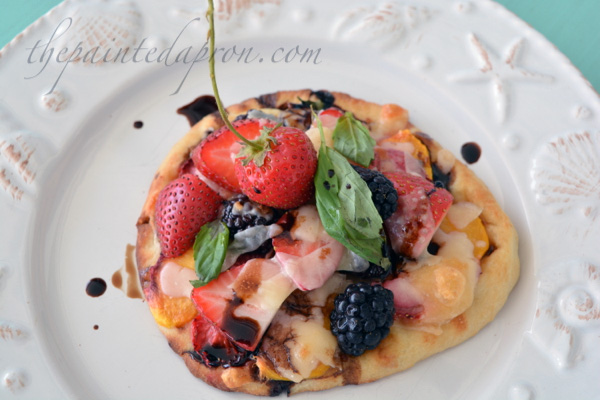berry topped naan