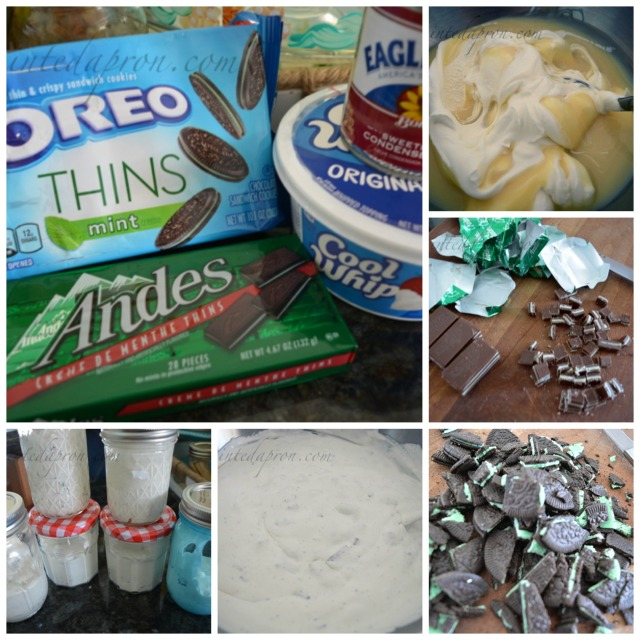 chocolate mint cookie cream collage