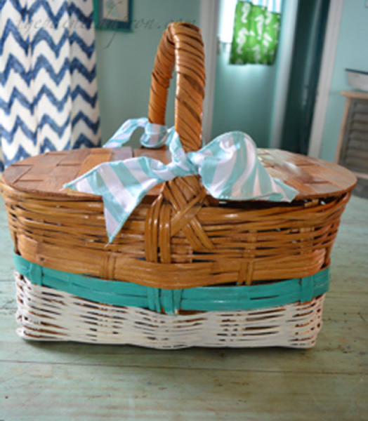 dressed up picnic basket