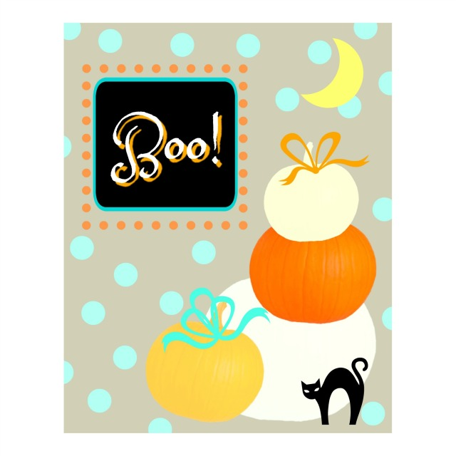 fall pumpkin Boo sign