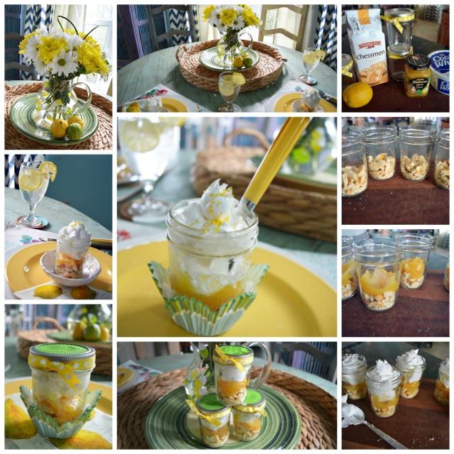 lazy lemon pie collage