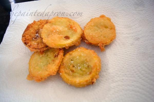 Parmesan fried squash thepaintedapron.com