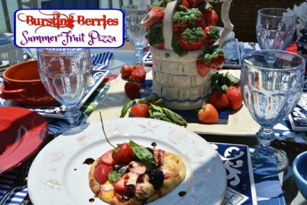 summer fruit pizza table