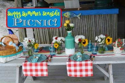 sunny summer seaside picnic