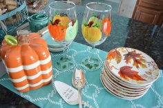 pumpkin-glasses-on-buffet