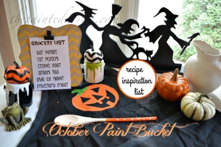 October recipe list