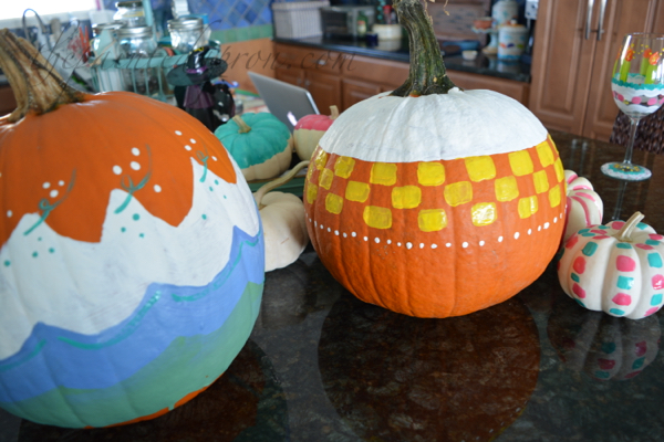 patterned-painted-pumpkins